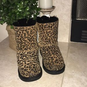 UGG Leopard Print Bailey Bow Boots